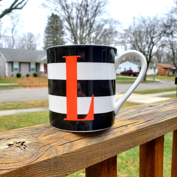 Kate Spade L Initial Wickford Red Letter Day Mug